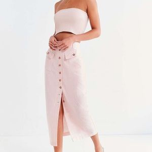 Urban Outfitters linen button up midi skirt